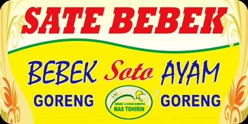 Desain Banner Jual Sate Bebek cdr | Kumpulan Desain Grafis ...