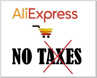 Não pagar Taxas da Alfândega no AliExpress