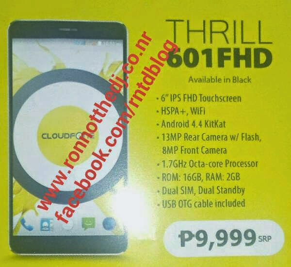 Cloudfone Thril 601FHD appeared in latest brochure, specs, price