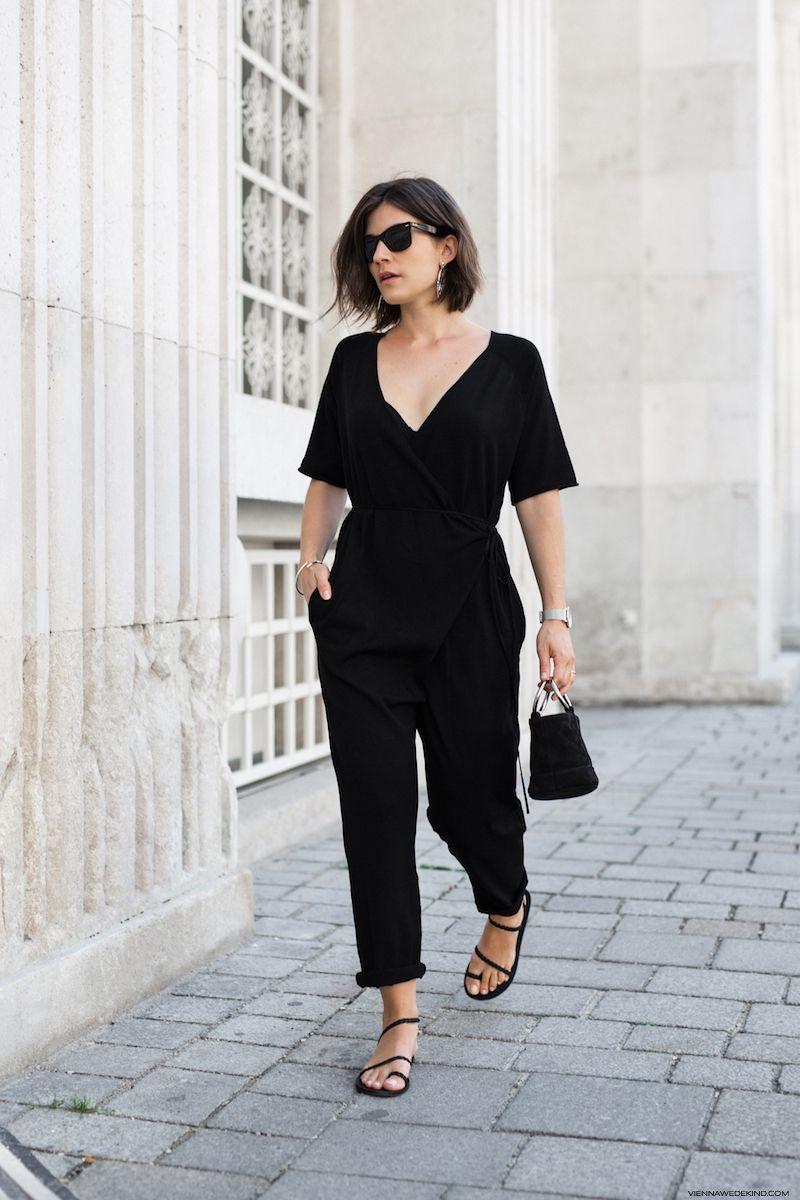 25 of the Most Stylish Black Jumpsuits for Spring and Summer