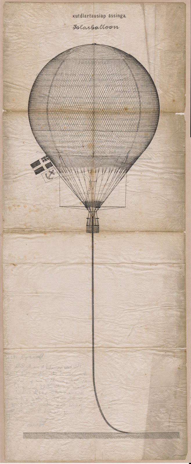 A diagram of a hot air balloon.