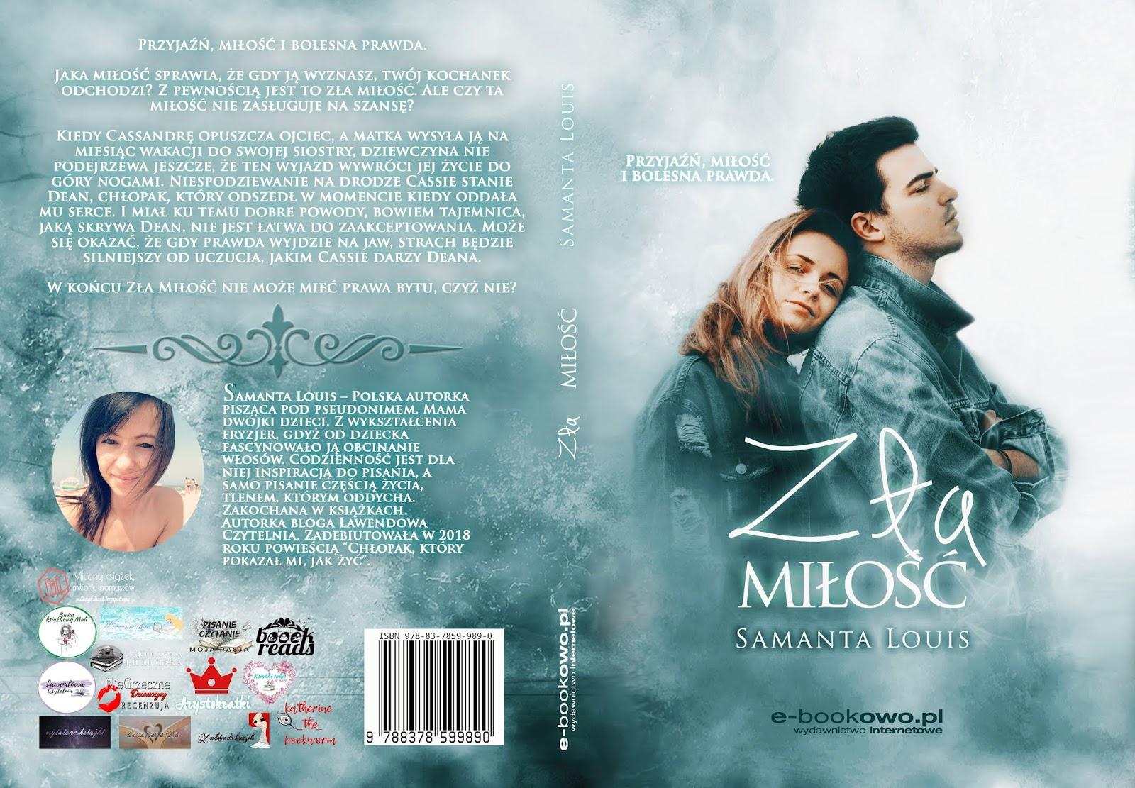 """Zapowiedź powieści """"Zła Miłość"""" patronat medialny!"""