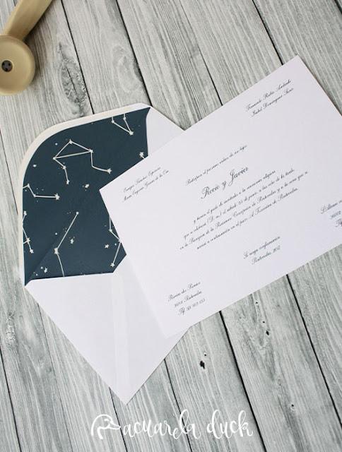 invitación boda moderna