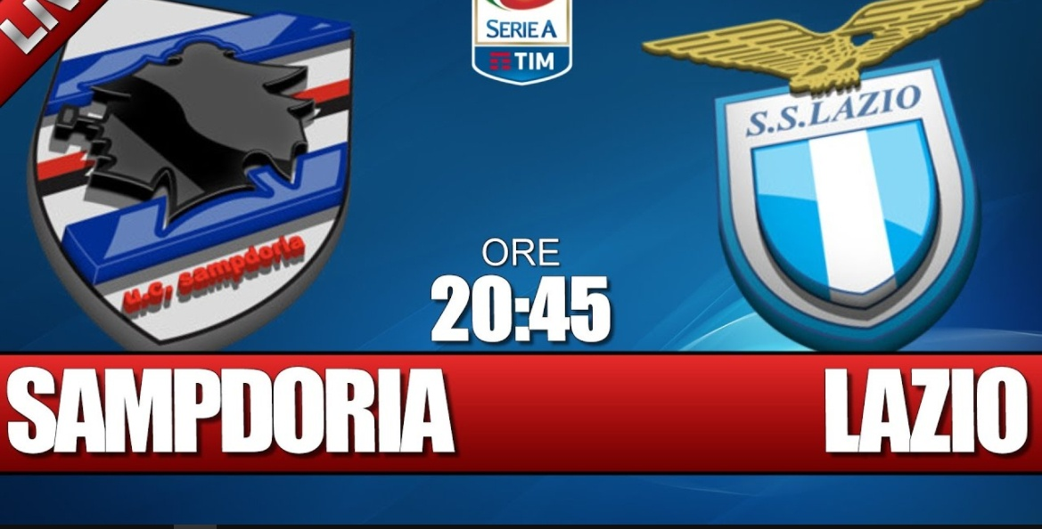 SAMPDORIA-LAZIO Diretta Streaming: info YouTube Facebook Live, dove vederla con PC iPhone Tablet TV