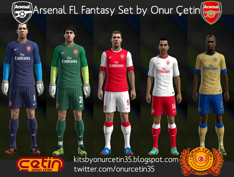 Arsenal FL Fantasy Set (with 12-13 Nike Temp)