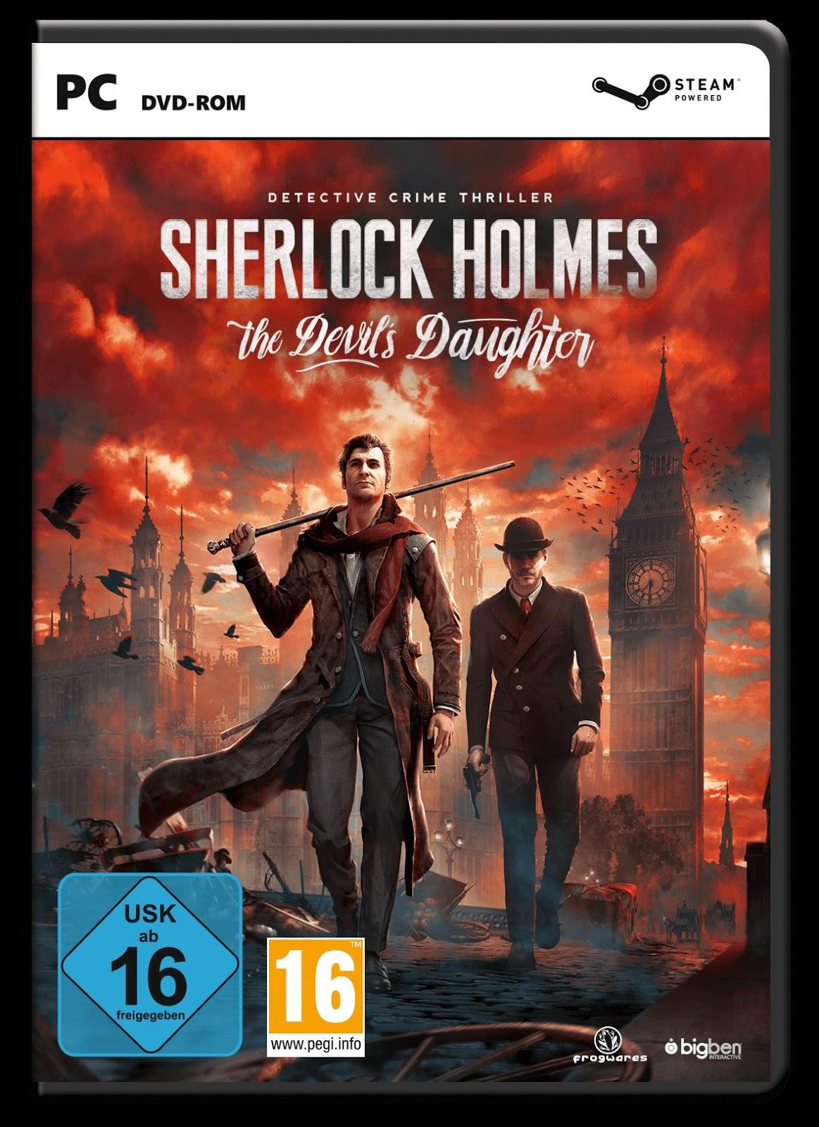 Sherlock Holmes: The Devil's Daughter (Region Free) PC PS4 PC Xbox360 PS3 Wii Nintendo Mac Linux