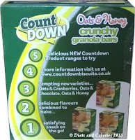 Poundland countdown granola bars box