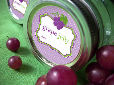 grape jelly canning label