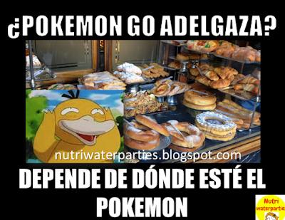 Meme sobre si el juego de Pokemon Go adelgaza