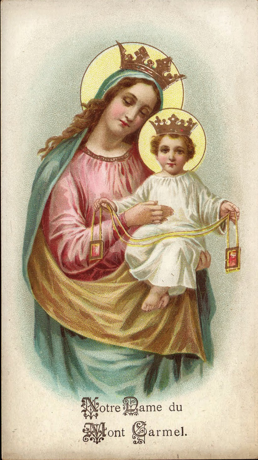 Carmel The Order Of The Virgin Feast Of O L Of Mount