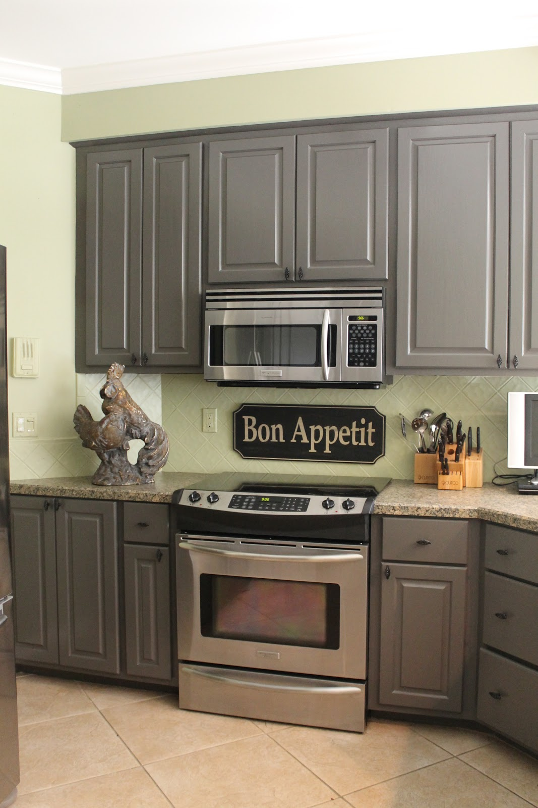 Grey Painted Kitchen Walls Kitchen Mini Makeover Miss Kopy Kat