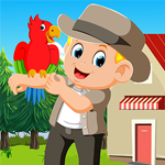 Games4king Stylish Boy With Parrot Rescue