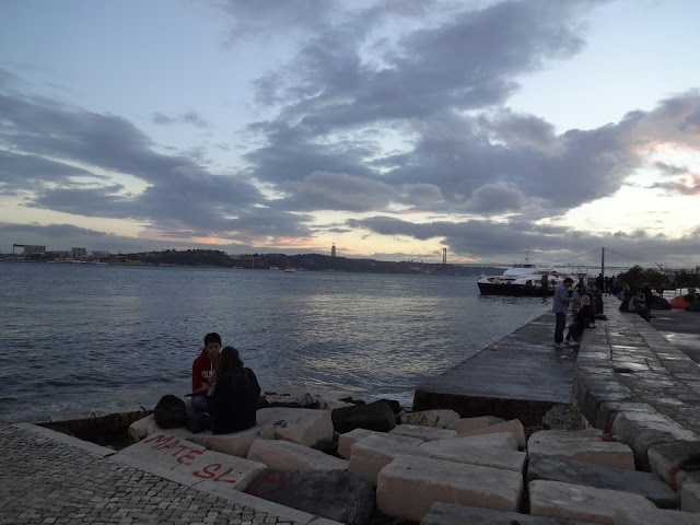 Sunset at Lisbon Pier