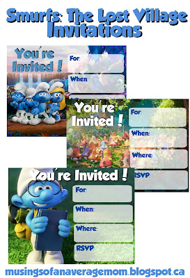 Smurfs: The Lost Village Birthday Party