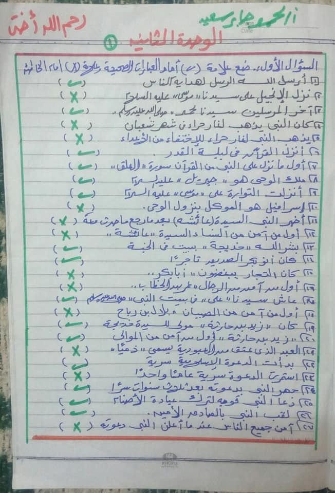 مراجعة التربية الدينية للصف الثاني الابتدائي ترم ثاني أ. محمد جابر 1