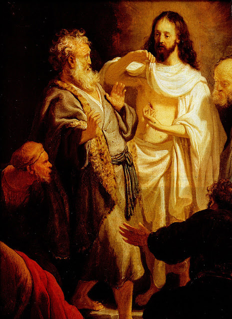 L'incrédulité de Saint Thomas de Rembrandt