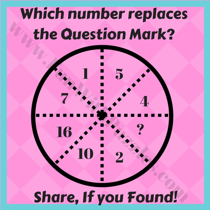 Find the Missing number in the Circle Puzzle Questions-Fun ...