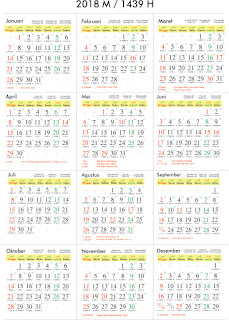 unduh kalender tahun 2018 lengkap libur nasional dan cuti bersama