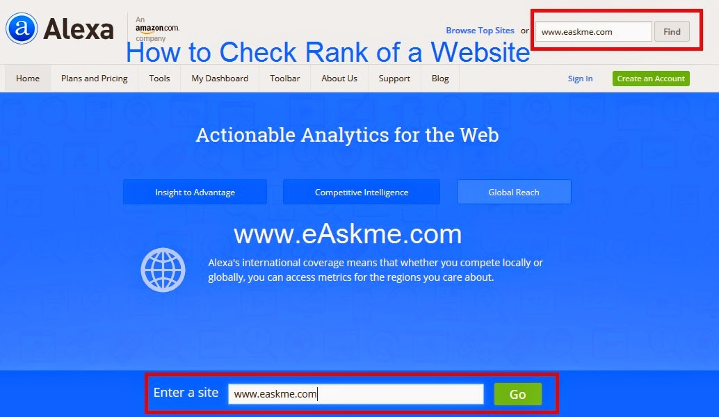 How to Check Rank of a Website : eAskme