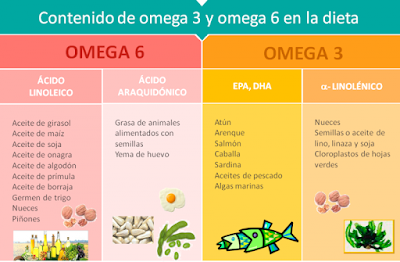 Beneficios Omega 3 y Omega 6