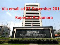 Kementrian BUMN - Koperasi Prabunara sd 27 Desember 2017 via email