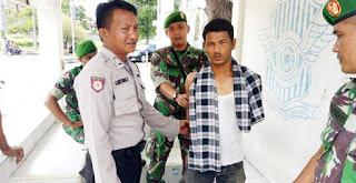 Tukang Jambret Dompet Ibu-ibu di Aceh Ditangkap TNI