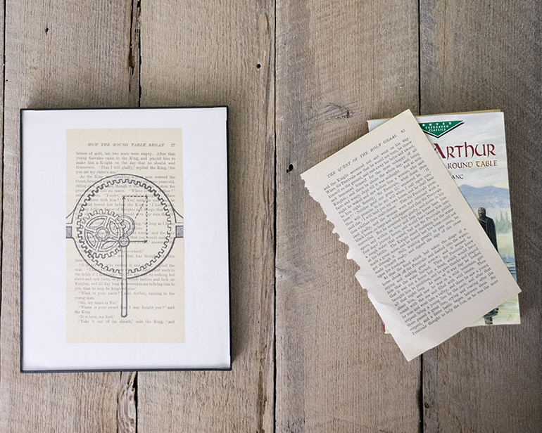 how to make book page art prints