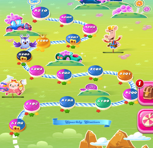 Candy Crush Saga level 5196-5210