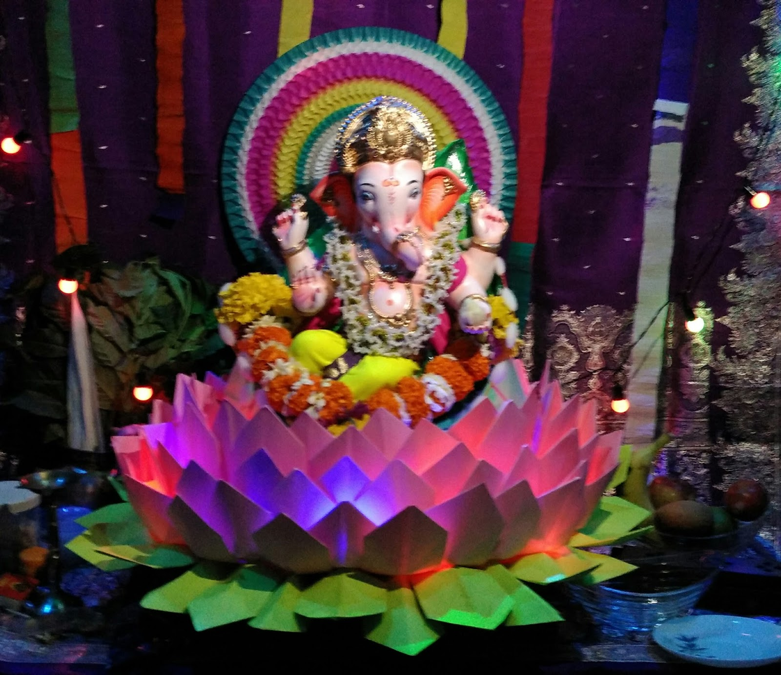 Ganpati Festival, Eco Friendly, Ganesh Festival, Home Decoration, Ganpati  Decoration, Makhar