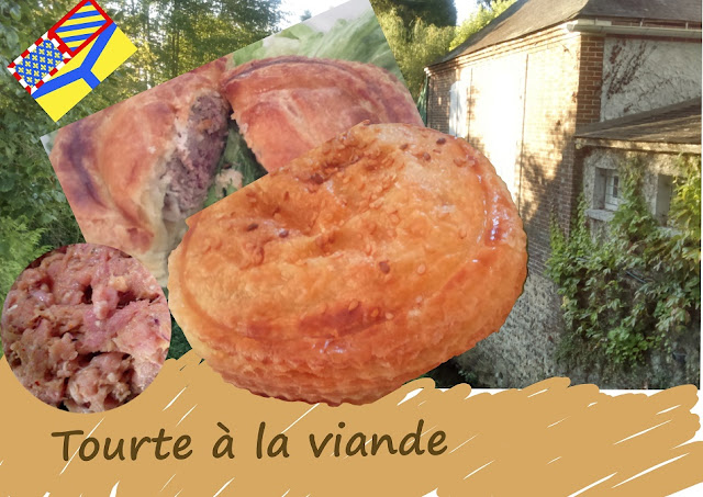 tourte à la viande bourguignonne au vin rouge, chair à saucisses de veau