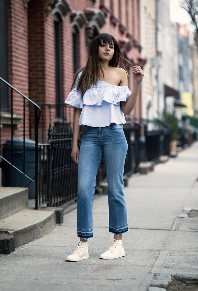Zara 2016 Spring Off Shoulder Ruffles Top