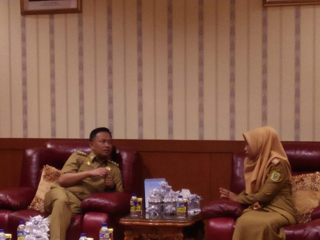 Kaban BKPSDMA Sinjai Paparkan aplikasi penilaian kinerja dihadapan pegawai Bantaeng