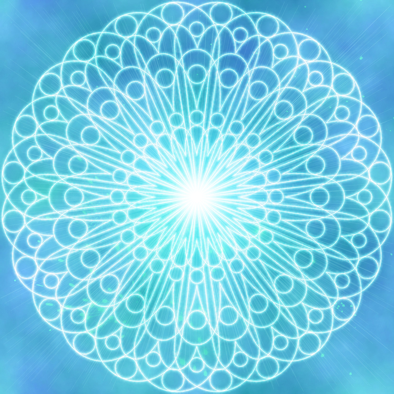 light blue lace mandala - photo #11