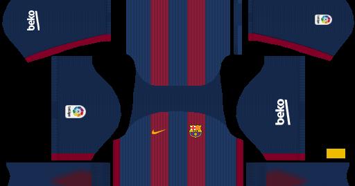 FC Barcelona 2016/17 Kit With Tattoo(No Qatar Airways Logo