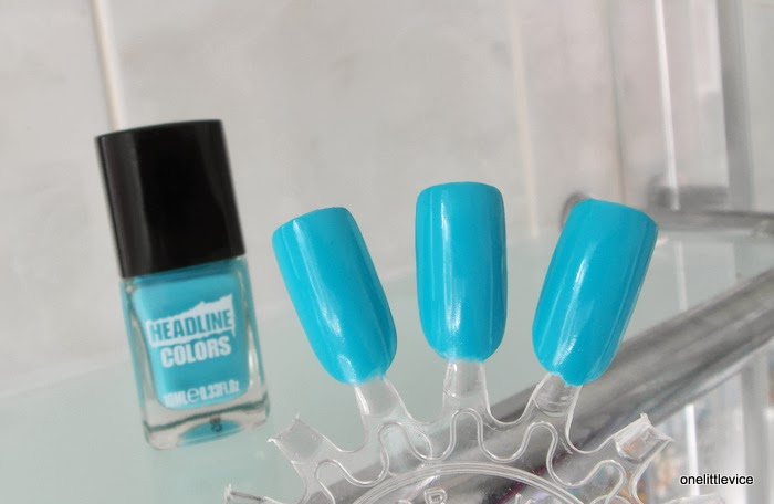 summer blue nail polish bright