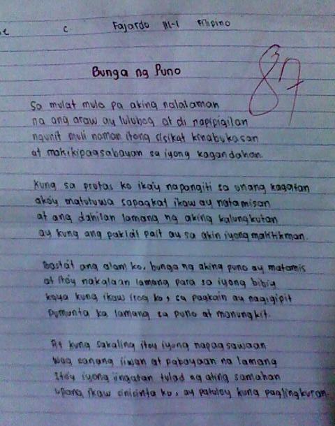 Pagmamahal Sa Magulang Essay Writing