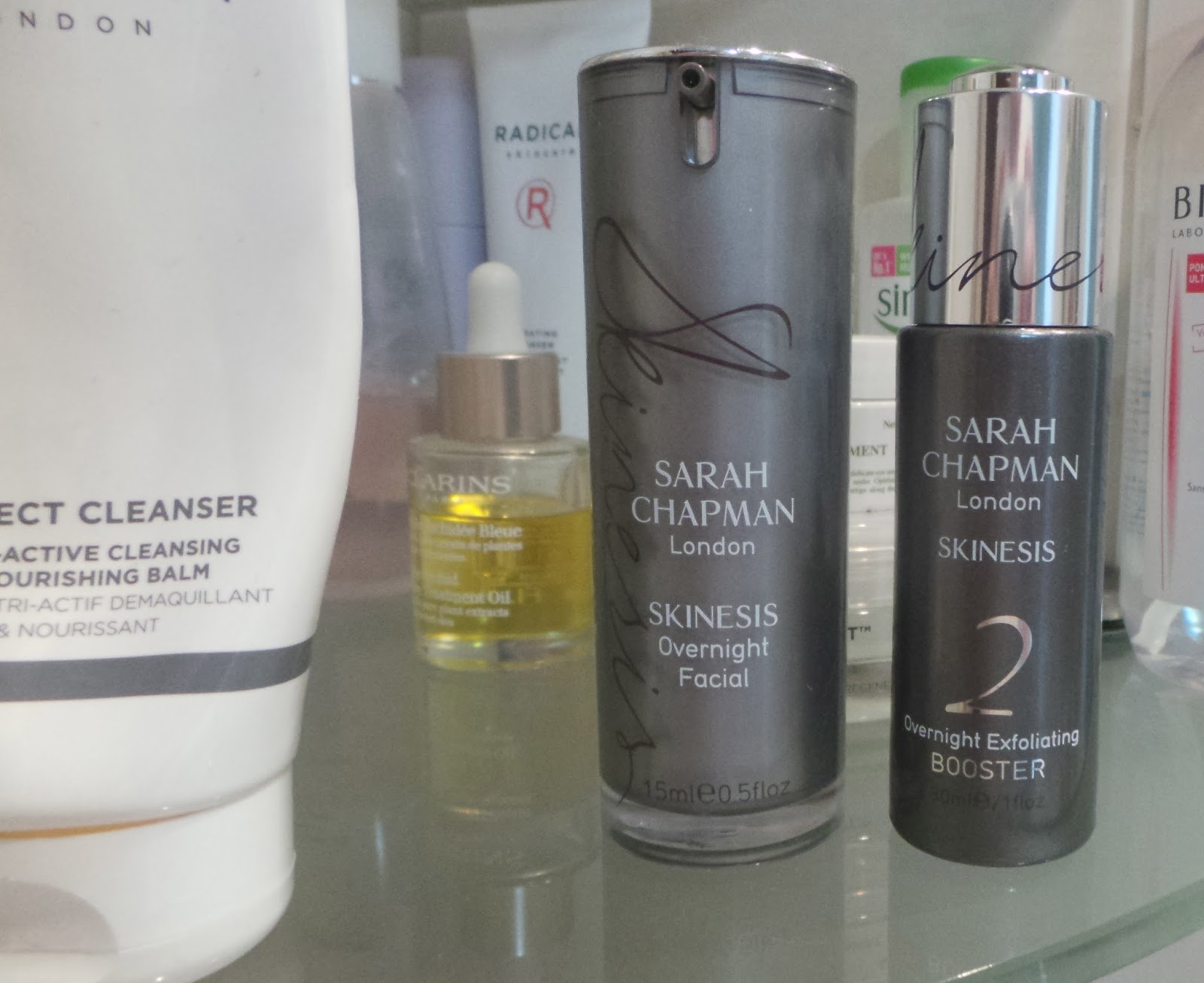 Sarah Chapman Overnight Exfoliating Booster and Overnight Facial