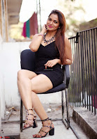 Actress and Model Ashwini in Beautiful Short Black Mini Dress ~  Exclusive 009.jpg
