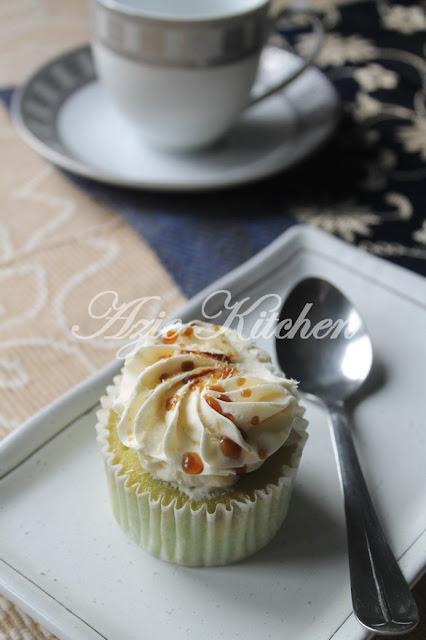 Cupcake Pandan Gula Melaka Yang Sangat Sedap