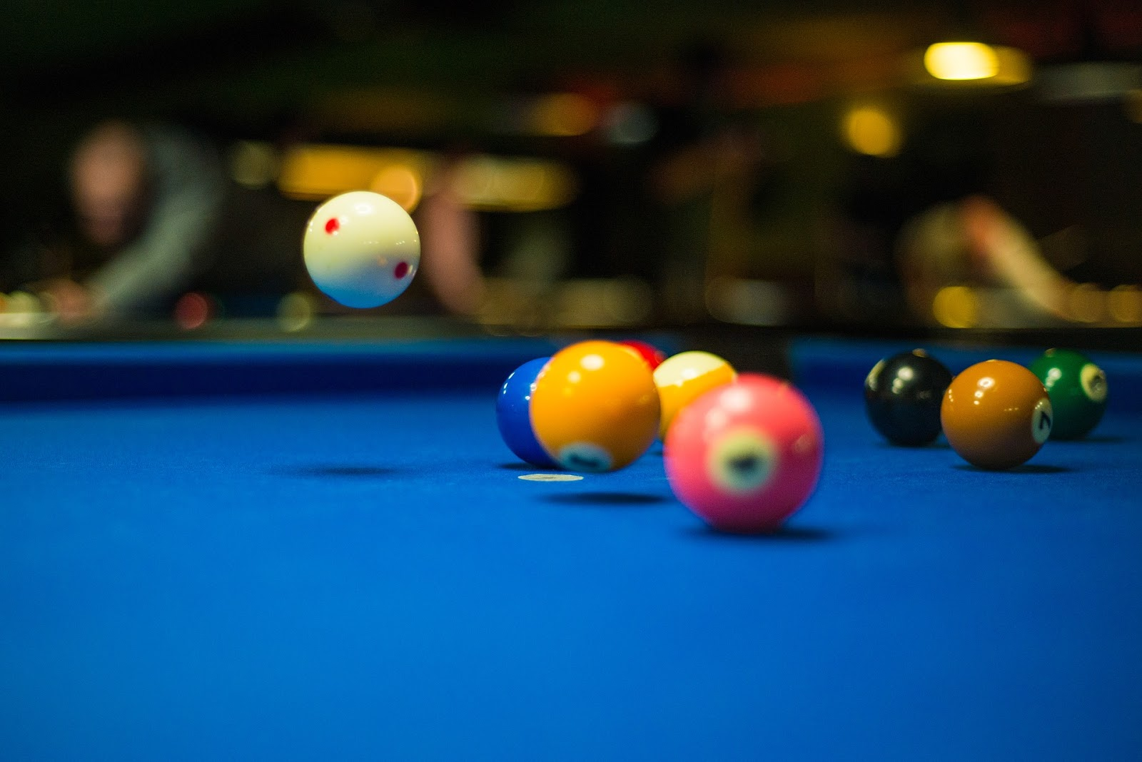 billiard pool a table of photo blue on view stock balls points different