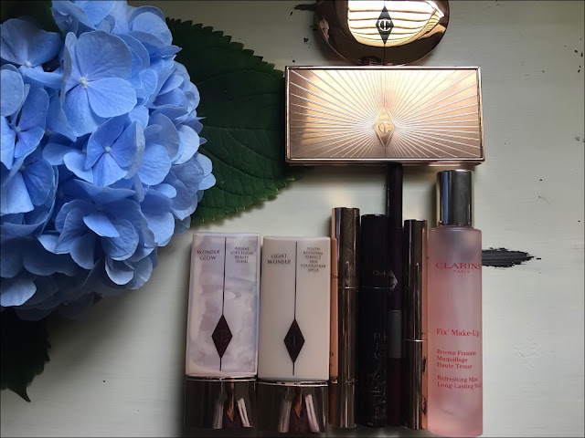 My Midlife Fashion, Charlotte tilbury film star bronzer, charlotte tilbury wonder glow, charlotte tilbury light wonder, charlotte tilbury concealer, charlotte tilbury mascara, charlotte tilbury eye brow pencil, charlotte tilbury brows, clarins fix make up