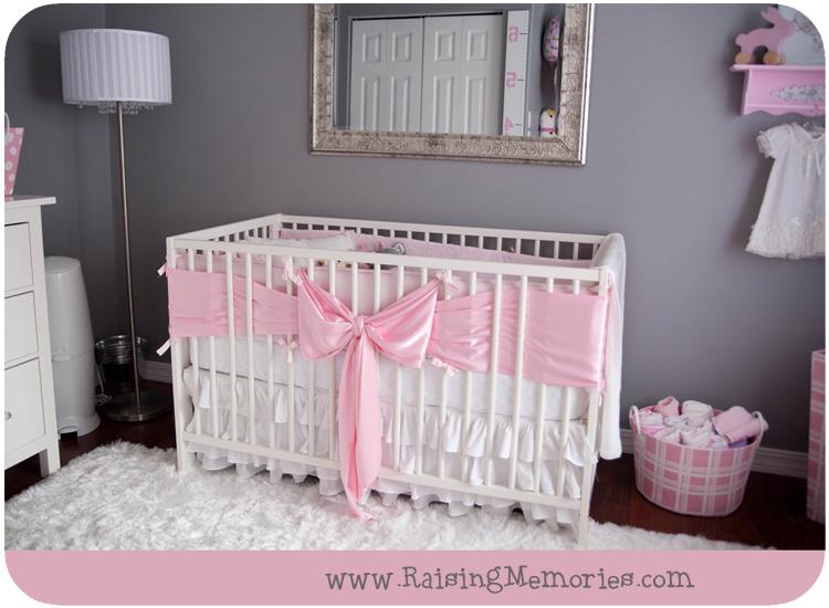 Pink And Gray Baby Girl Nursery