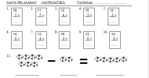 Berikut Soal Cerita Matematika Kelas 1 Sd Penjumlahan Dan Pengurangan