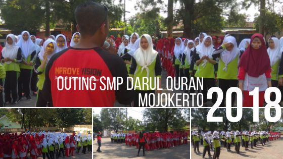 Outing SMP Darul quran Mojokerto wisata outbound pacet improve vision
