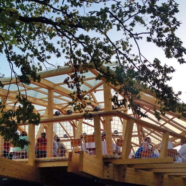 Badenfahrt Beiz Festbeiz Holzkonstruktion luftig