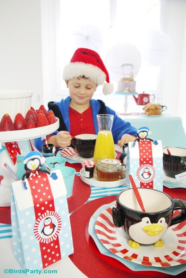 North Pole Christmas Breakfast Table Ideas- BirdsParty.com