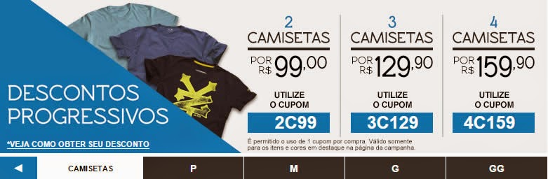 b218323559 Desconto Progressivo Kanui 4 camisetas por R  159