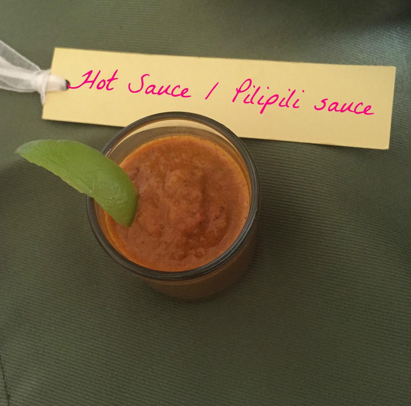 Celebrating Food: Hot Sauce / Pili pili sauce