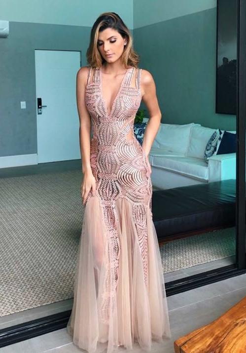 vestido de festa transparência