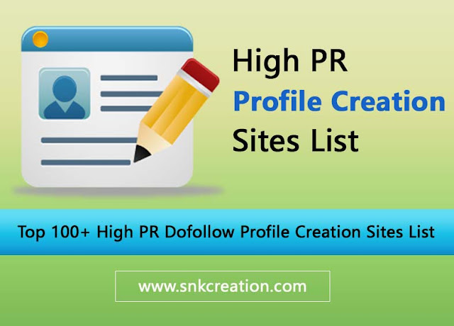 profile creation site list 2018